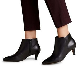 NEW Clarks Linvale Sea Black Leather Booties